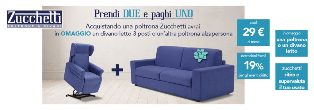 Offerta promozionale Poltrona Elettrica Zucchetti prendi 2 paghi 1 ...
